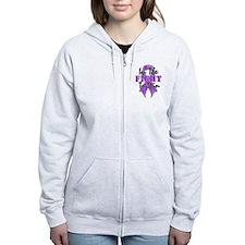 Lupus Fight To Win Zip Hoodie