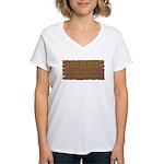 Long Branch Saloon Women's V-Neck T-Shirt