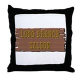 Long Branch Saloon Throw Pillow
