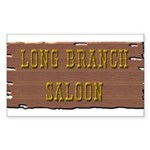 Long Branch Saloon Sticker (Rectangle)