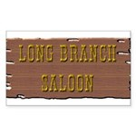 Long Branch Saloon Sticker (Rectangle)