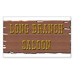 Long Branch Saloon Sticker (Rectangle 10 pk)