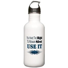 Right To Remain Silent Water Bottle