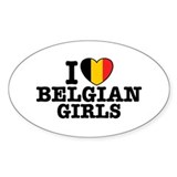 I Love Belgian Girls Decal