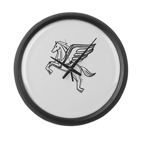 Chasing Pegasus Large Wall Clock