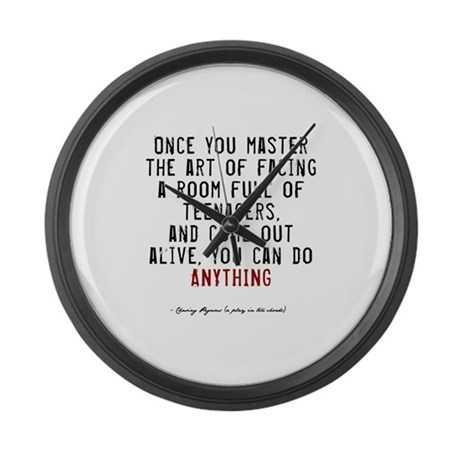 Teacher Quote Large Wall Clock