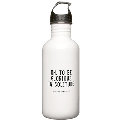 Solitude Quote Stainless Water Bottle 1.0L