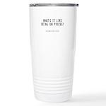 Prozac Quote Ceramic Travel Mug