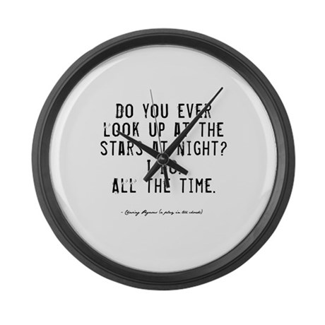 Stars Quote Large Wall Clock