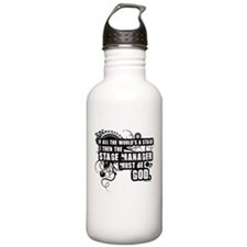 Grunge Stage Manager Water Bottle