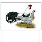 Phoenix Silver Chickens Yard Sign
