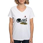 Phoenix Silver Chickens Women's V-Neck T-Shirt
