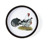 Phoenix Silver Chickens Wall Clock
