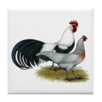 Phoenix Silver Chickens Tile Coaster