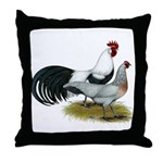 Phoenix Silver Chickens Throw Pillow