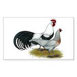 Phoenix Silver Chickens Sticker (Rectangle 50 pk)