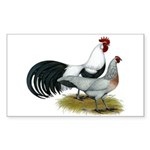 Phoenix Silver Chickens Sticker (Rectangle 10 pk)
