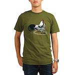 Phoenix Silver Chickens Organic Men's T-Shirt (dar