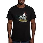 Phoenix Silver Chickens Men's Fitted T-Shirt (dark