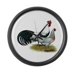 Phoenix Silver Chickens Large Wall Clock