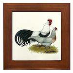 Phoenix Silver Chickens Framed Tile