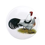"""Phoenix Silver Chickens 3.5"""" Button (100 pack"""