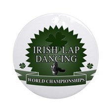 Irish Lap Dancing Ornament (Round)