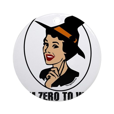 Zero to Witch Ornament (Round)