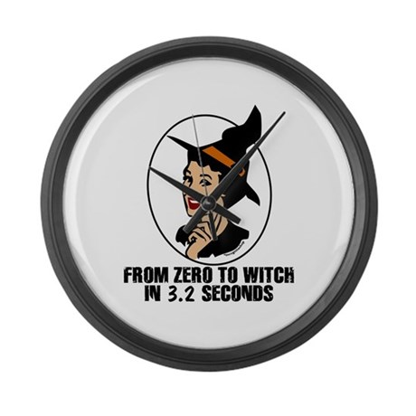 Zero to Witch Large Wall Clock