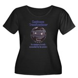 Transfunctioner Women's + Size Scoop Dark T-Shirt