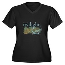 Twilight Christmas Women's Plus Size V-Neck Dark T
