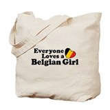 Belgian Girl Tote Bag