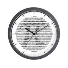 Pi Circle Irrational Wall Clock