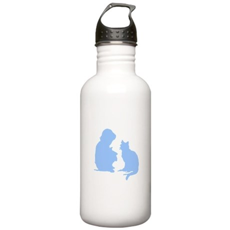 Child and Cat Stainless Water Bottle 1.0L