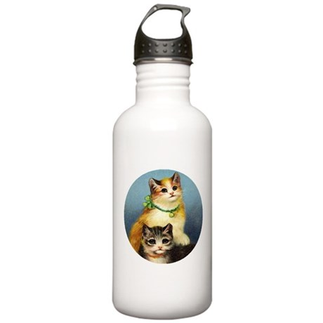 Cute Kittens Stainless Water Bottle 1.0L