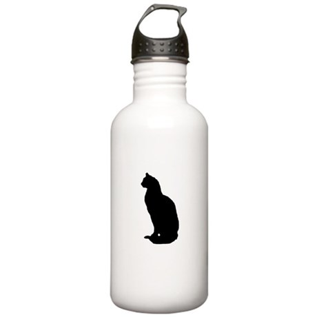 Cat Silhouette Stainless Water Bottle 1.0L