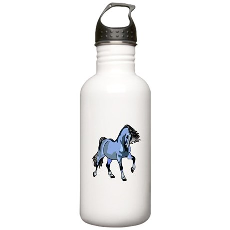 Fantasy Horse Light Blue Stainless Water Bottle 1.