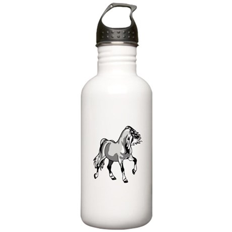 Spirited Horse White Stainless Water Bottle 1.0L