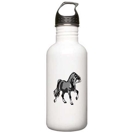 Spirited Horse Gray Stainless Water Bottle 1.0L