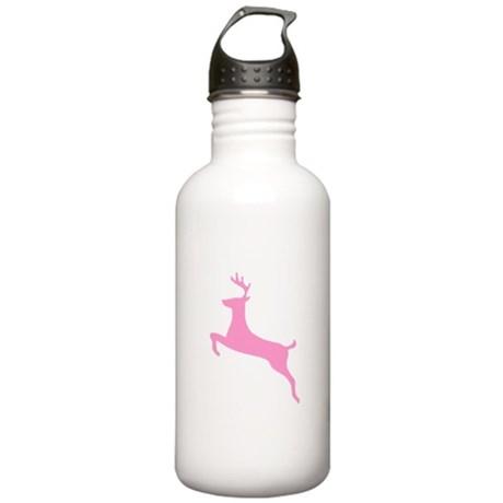 Pink Leaping Deer Stainless Water Bottle 1.0L