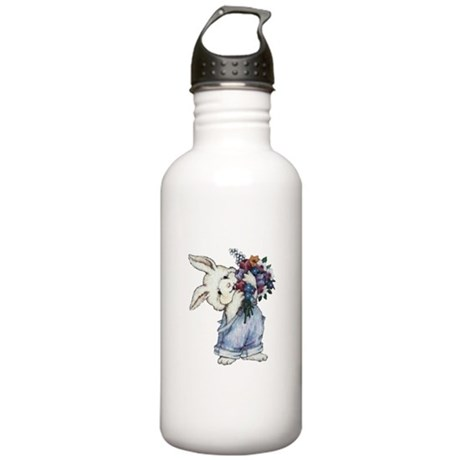 Bunny with Flowers Stainless Water Bottle 1.0L