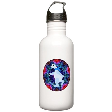 Skating Polar Bear Stainless Water Bottle 1.0L