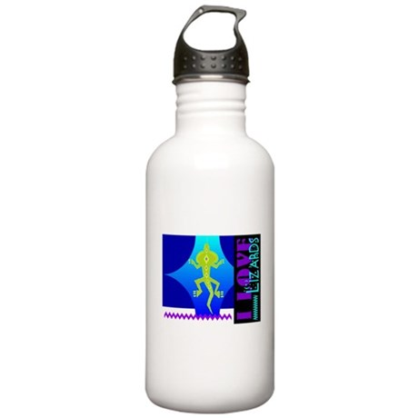 I Love Lizards Stainless Water Bottle 1.0L