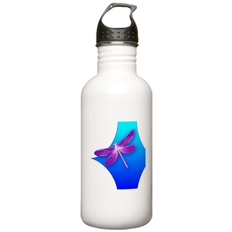 Pretty Dragonfly Stainless Water Bottle 1.0L