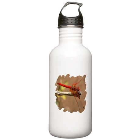 Red Dragonfly Stainless Water Bottle 1.0L