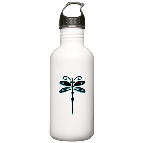 Teal Dragonfly Stainless Water Bottle 1.0L