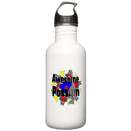 Awesome Possum Kaleidoscope Stainless Water Bottle