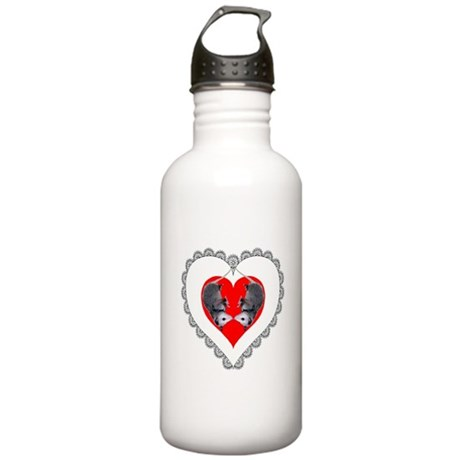 Opossum Valentines Day Heart Stainless Water Bottl