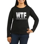 Women's Long Sleeve Dark WTF - Welcome To Finland