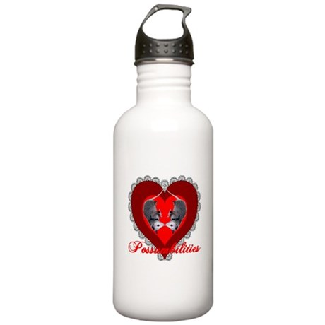 Possumbilities Valentines Day Stainless Water Bott